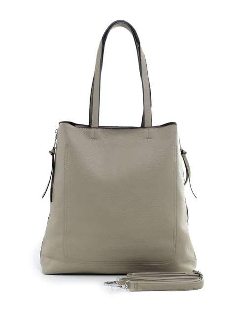 Jasna khaki torba ze skóry ekologicznej