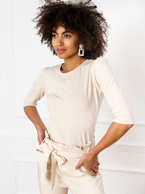 Jasnobeżowa bluzka Alexis