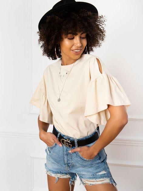 Jasnobeżowa bluzka Alice
