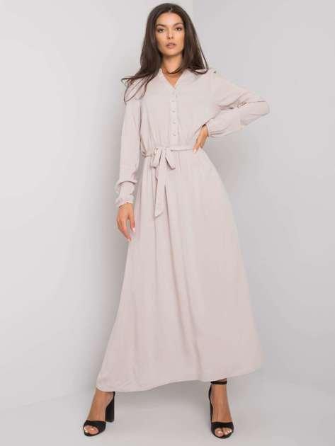 Jasnobeżowa sukienka maxi Nahila FRESH MADE