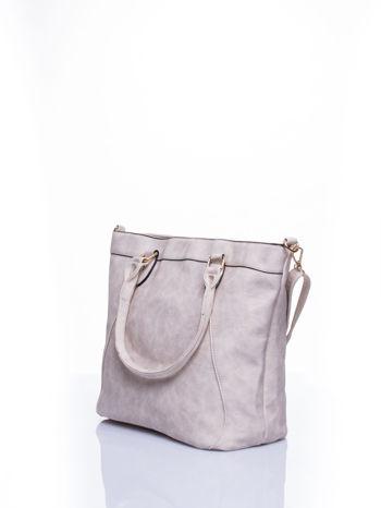 Jasnobeżowa torba city bag na ramię                                  zdj.                                  3