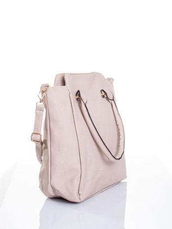 Jasnobeżowa torba shopper bag                                  zdj.                                  4