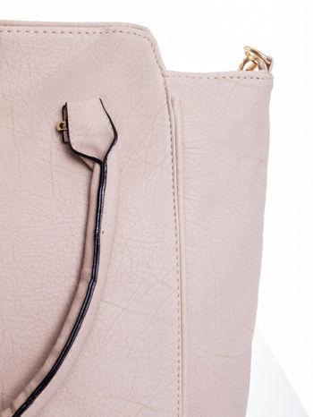 Jasnobeżowa torba shopper bag                                  zdj.                                  7