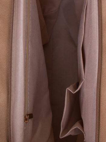 Jasnobeżowa torba ze złotym detalem                                  zdj.                                  5
