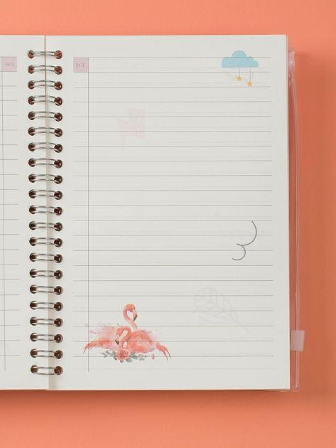Jasnobeżowy notes we flamingi                              zdj.                              6