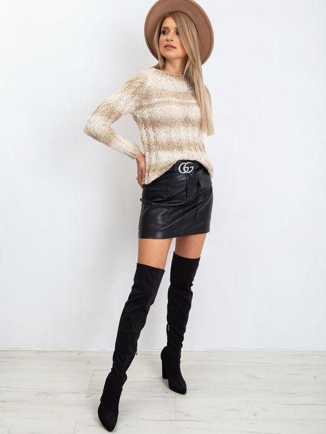Jasnobeżowy sweter Hana                              zdj.                              4