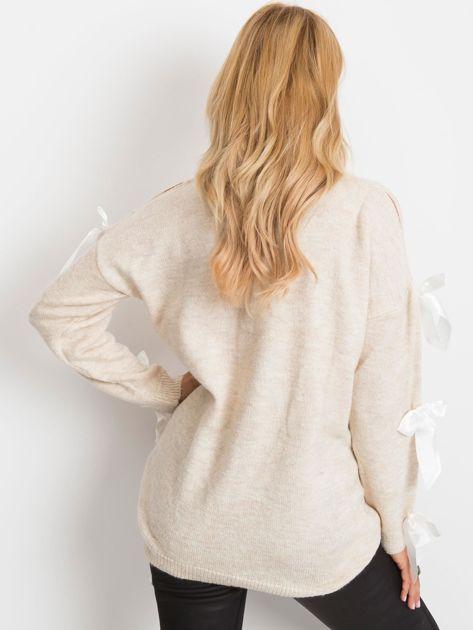 Jasnobeżowy sweter Montana                              zdj.                              2