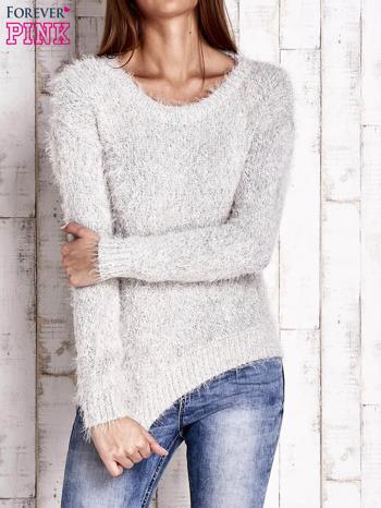 Jasnobeżowy sweter long hair                                  zdj.                                  1
