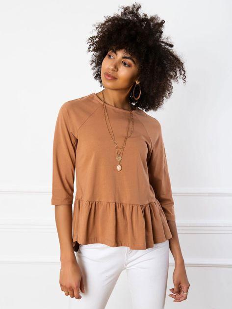Jasnobrązowa bluzka Simone