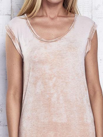 Jasnobrązowa długa sukienka acid wash                                   zdj.                                  5