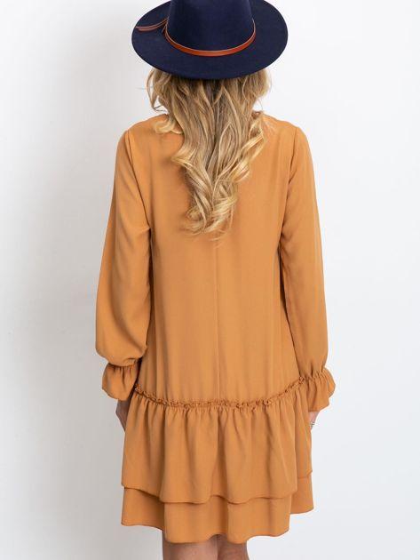 Jasnobrązowa sukienka Gemma                              zdj.                              2