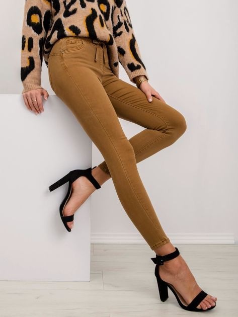 Jasnobrązowe spodnie Dolce