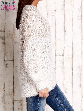 Jasnobrązowy melanżowy sweter long hair                                  zdj.                                  3