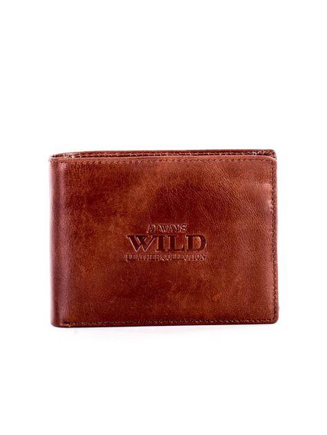 Jasnobrązowy miękki skórzany portfel dla mężczyzny                              zdj.                              1