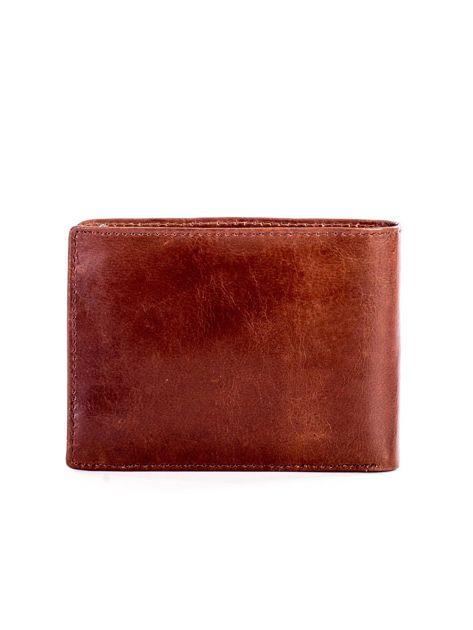 Jasnobrązowy miękki skórzany portfel dla mężczyzny                              zdj.                              2