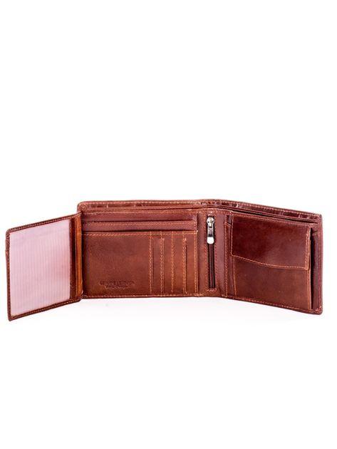 Jasnobrązowy miękki skórzany portfel dla mężczyzny                              zdj.                              5
