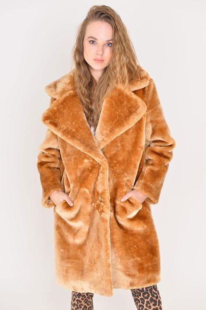 Jasnobrązowy płaszcz BSL