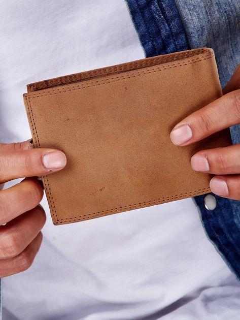 Jasnobrązowy portfel męski ze skóry naturalnej                               zdj.                              6