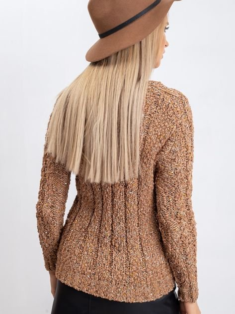 Jasnobrązowy sweter Erika                              zdj.                              2