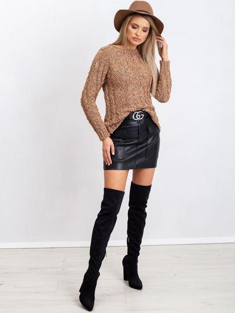 Jasnobrązowy sweter Erika                              zdj.                              4