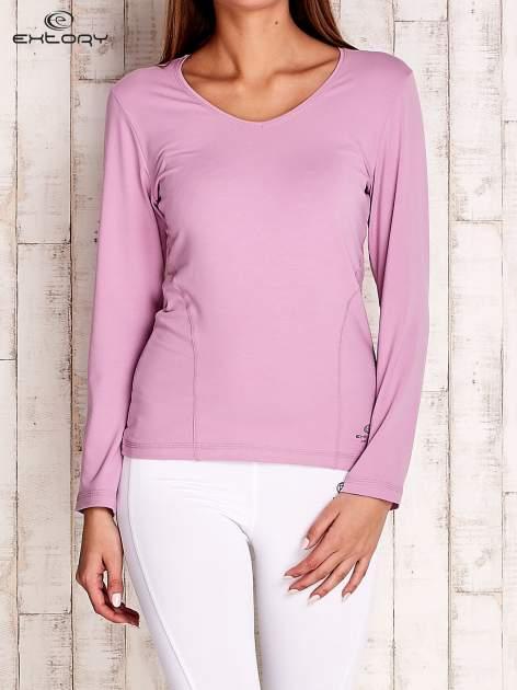 Jasnofioletowa bluzka sportowa basic PLUS SIZE                                  zdj.                                  1