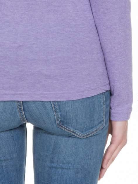 Jasnofioletowa bluzka z długim rękawem z bawełny                                  zdj.                                  8