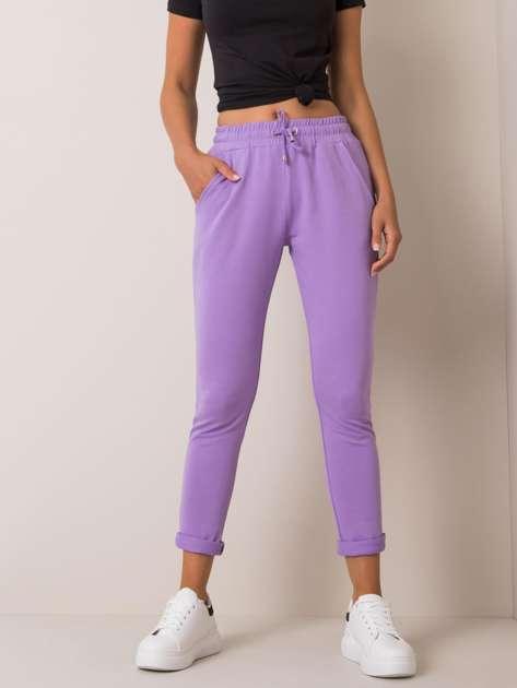 Jasnofioletowe spodnie Cadence