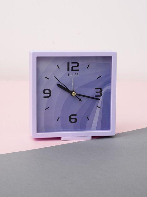 Jasnofioletowy kwadratowy zegarek                              zdj.                              1