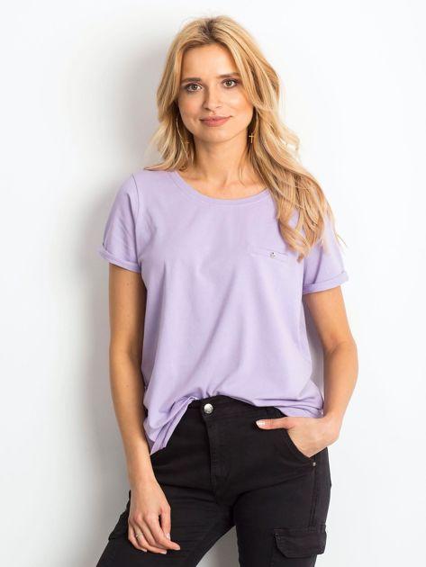 Jasnofioletowy t-shirt Transformative