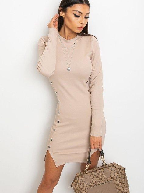 Jasnokawowa sukienka Fabulous                              zdj.                              5