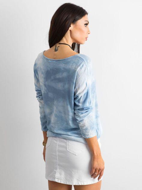 6c7492a293a6cd Jasnoniebieska bluzka damska z długim rękawem - Bluzka na co dzień - sklep  eButik.pl