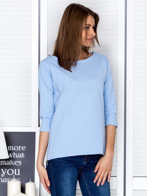 Jasnoniebieska bluzka z bocznymi suwakami                                  zdj.                                  5