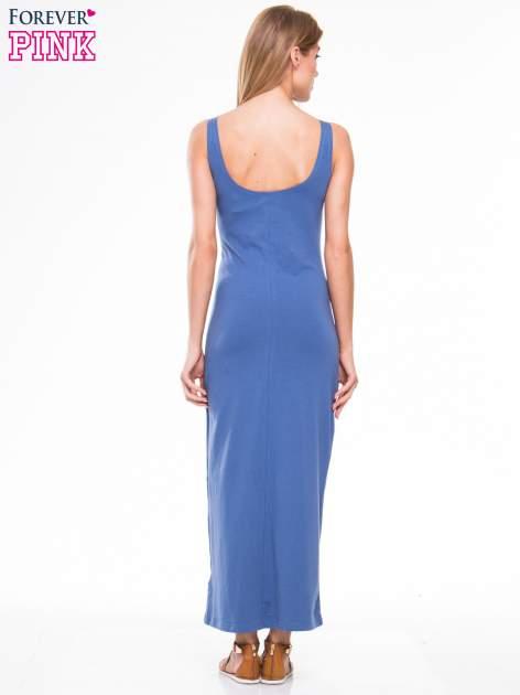 Jasnoniebieska długa sukienka maxi na ramiączkach                                  zdj.                                  2