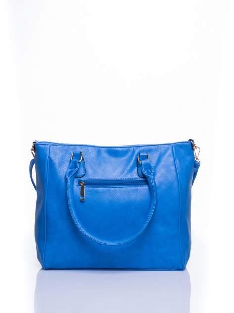 Jasnoniebieska miejska torba z ozdobnymi klamrami                                  zdj.                                  3