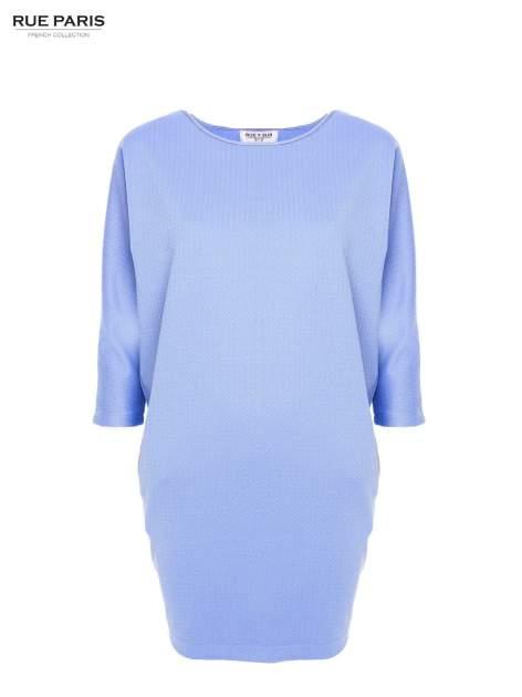 Jasnoniebieska prosta sukienka                                  zdj.                                  2