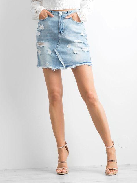 Jasnoniebieska spódnica Jersey                              zdj.                              5