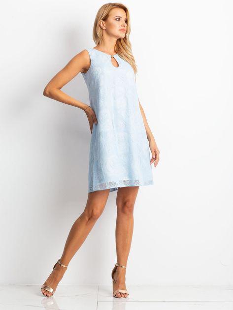 Jasnoniebieska sukienka Give                              zdj.                              4