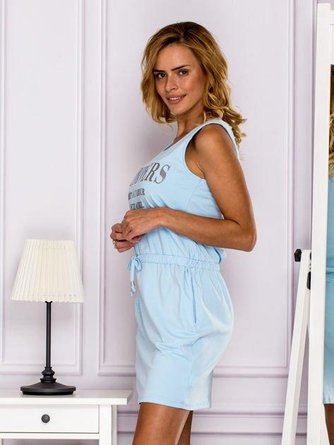 Jasnoniebieska sukienka z troczkami                                  zdj.                                  5