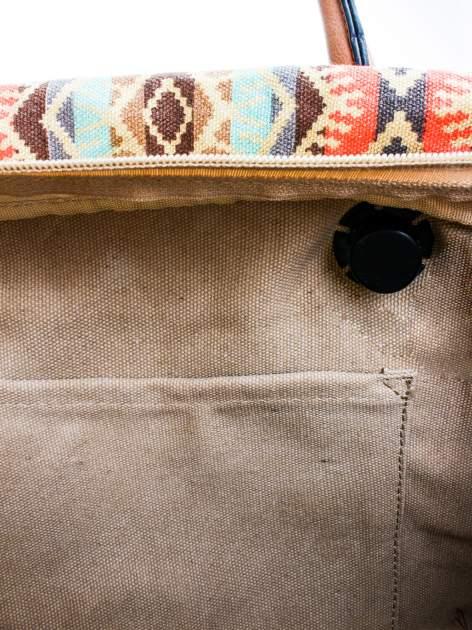 Jasnoniebieska torba gumowa z motywem azteckim                                  zdj.                                  8