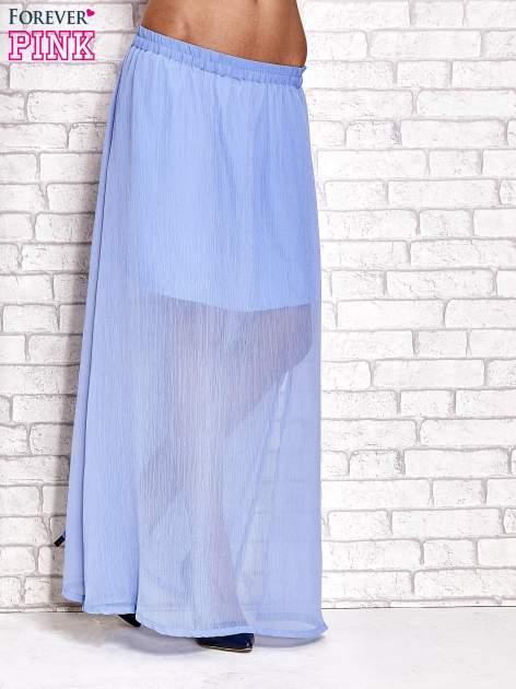 Jasnoniebieska transparentna spódnica maxi                                  zdj.                                  1