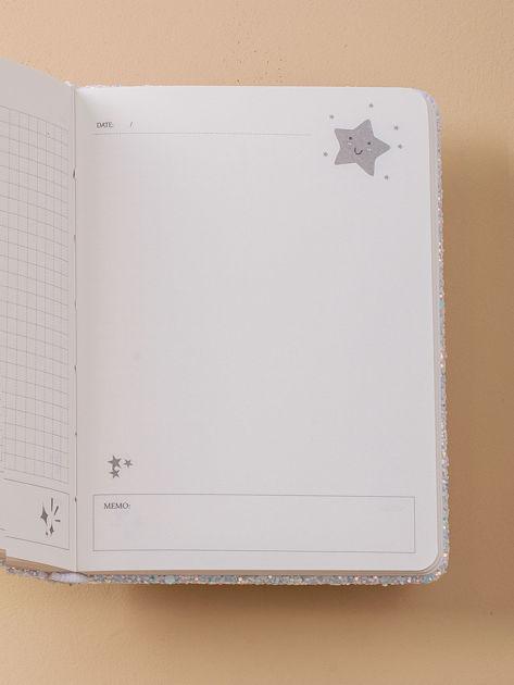 Jasnoniebieski brokatowy notes                              zdj.                              6
