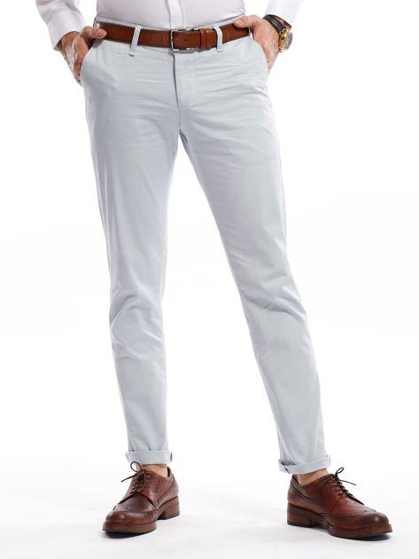 Jasnoniebieskie bawełniane spodnie męskie                               zdj.                              1