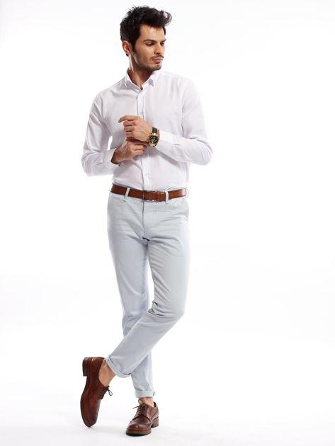 Jasnoniebieskie bawełniane spodnie męskie                               zdj.                              10
