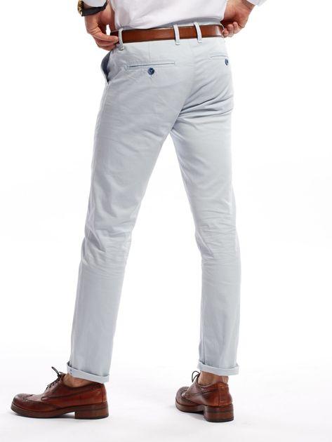 Jasnoniebieskie bawełniane spodnie męskie                               zdj.                              6