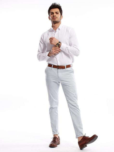 Jasnoniebieskie bawełniane spodnie męskie                               zdj.                              9