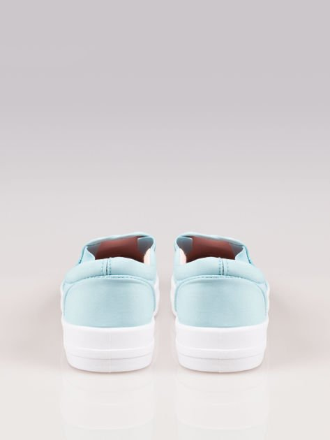 Jasnoniebieskie buty slip on na grubej podeszwie                                  zdj.                                  3