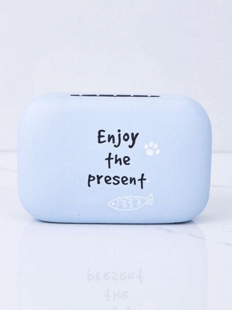 Jasnoniebieskie pudełko na szkła kontaktowe                              zdj.                              6