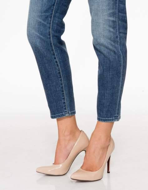 Jasnoniebieskie spodnie girlfriend jeans z cieniowaniem                                  zdj.                                  8