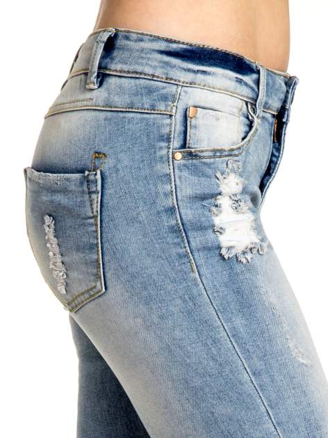 Jasnoniebieskie spodnie skinny jeans ripped knee                                  zdj.                                  5