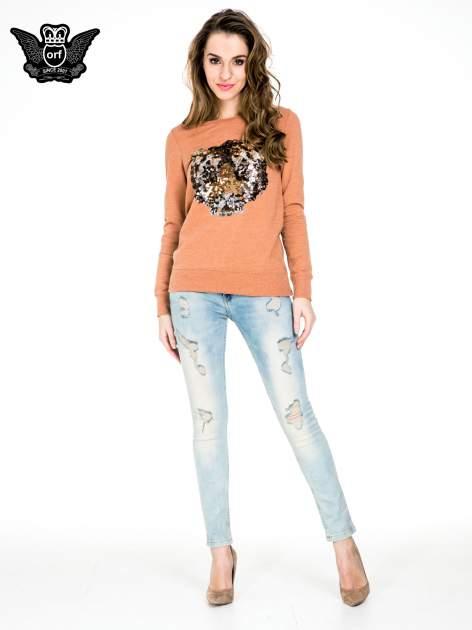 Jasnoniebieskie spodnie skinny jeans z przetarciami                                  zdj.                                  4